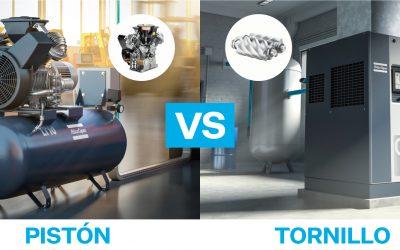¿Debo elegir un compresor de pistón o de tornillo?